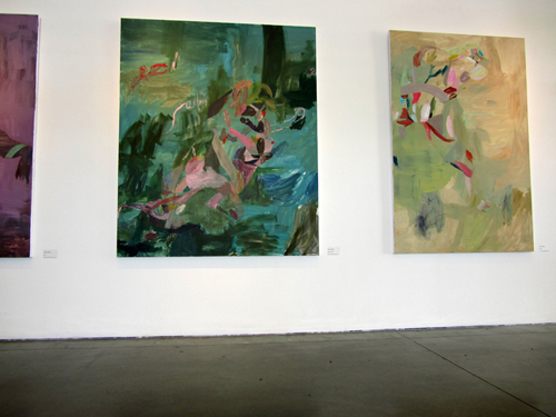 Jennine Scarboro's paintings in the MFA ahow at CCA