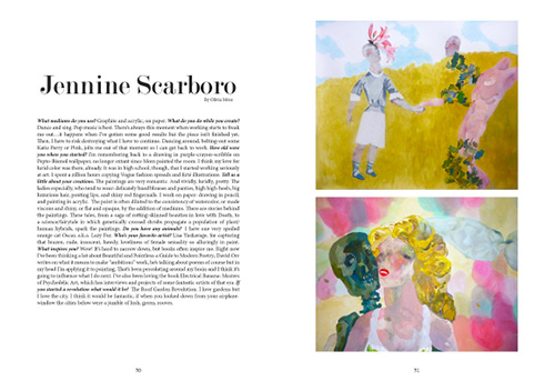 Jennine Scarboro interview in Youth in Revolt magazine